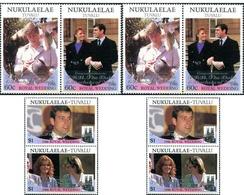 Ref. 299105 * MNH * - TUVALU. Nukulaelae. 1986. WEDDING OF PRINCE ANDREW AND MISS SARAH FERGUSON . BODA DEL PRINCIPE AND - Tuvalu