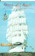 Carte De Qsl-voiliers 3 Mats---slb Labourse -cpm - Sailing Vessels