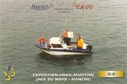 Carte De Qsl-expedition Mobil Maritime-mer Du Nord - Manche--slb Labourse -cpm - CB