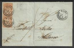 "Storia Postale: Coppia Cent. 20 H. ""Helvetia Seduta"" Su Piego - Storia Postale"