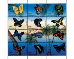 Ref. 226846 * MNH * - UGANDA. 1996. BUTTERFLIES . MARIPOSAS - Uganda (1962-...)