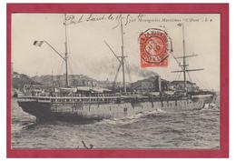 FRANCE --PAQUEBOTS --MESSAGERIES MARITIMES -- SS L'OXUS -- CP1910 -- - Dampfer