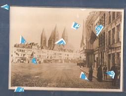 Doornik Tournai 1914 1918 Photo Grand Place Liberation De La Ville Par Les Anglais 1918 - 200 Mm X 145 Mm - Tournai