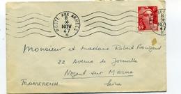 N 721 Sur Lettre Cachet à Date Poste Aux Armées 8 Nov 47 - Postmark Collection (Covers)