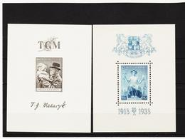 Post283 TSCHECHOSLOWAKEI CSSR 1938 MICHL BLOCK 3 + 5 ** Postfrisch SIEHE ABBILDUNG - Unused Stamps