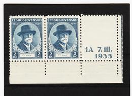 Post292 TSCHECHOSLOWAKEI CSSR 1935 MICHL 334 Mit Bedruckten LEERFELD ** Postfrisch SIEHE ABBILDUNG - Ungebraucht
