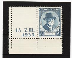 Post293 TSCHECHOSLOWAKEI CSSR 1935 MICHL 334 Mit Betruckten LEERFELD ** Postfrisch SIEHE ABBILDUNG - Ungebraucht