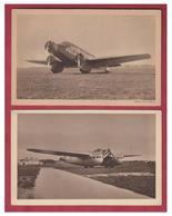 FRANCE --AVIATION -- AVION -- 2 CP --AVION BLERIOT BIFUSELAGE -- ET AVION WIBAULT TRI-MOTEURS-- - 1919-1938: Entre Guerres