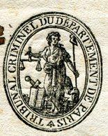PARIS LAC Du 16/04/1797 Griffe Du Ministre De La Justice Et Franchise - 1701-1800: Precursori XVIII