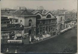 Photo Originale Paris Gare Montparnasse Autobus Ancien Porte Des Lilas Car Format 17X12 Rare - Arrondissement: 14