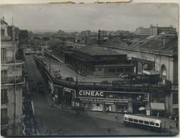 Photo Originale Paris Gare Montparnasse Autobus Ancien Arriere Gare Cineac Format 17X12 Rare - Arrondissement: 14