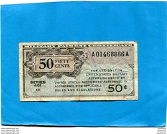 MILITARY PAYMENT CERTIFICATE 50  Cents Série 461 -16---1946 - Certificats De Paiement Militaires (1946-1973)