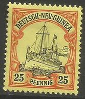 German New Guinea - 1901 Kaiser's Yacht 25pf Mint Hinged    Sc 11 - Colony: German New Guinea