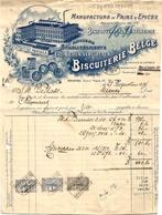 1 Faktuur  Anvers Borgerhout Biscuiterie Belge Eug.Beliën -Verstrepen Manufacture De Pains D' Epices C1924 - Belgique