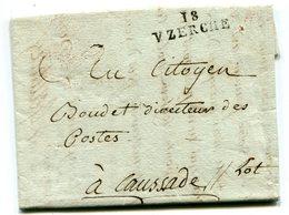CORREZE De UZERCHE LAC Du 23/10/1792 Linéaire 28x8 Franchise + Verso Sceau District De UZERCHE Intact - Marcophilie (Lettres)