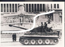 19 1943 Kampf Um Rom Pz VI Tiger Vittorio Emmanuele Denkmal. Repro - 1939-45
