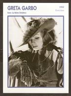 PORTRAIT DE STAR 1933 ETATS UNIS USA - ACTRICE GRETA GARBO LA REINE CHRISTINE - ACTRESS CINEMA - Fotos