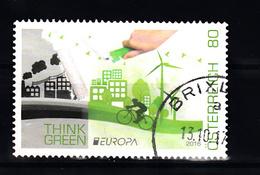Oostenrijk 2016 Mi Nr 3268 Denk Groen, Think Green, Europa - 2011-... Afgestempeld