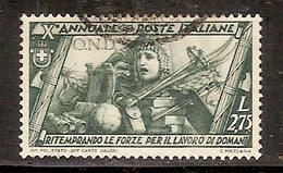 """(Fb).Regno.V.E.III.1932 """"Marcia Su Roma"""".-2,75 Lire Usato  (151-16) - 1900-44 Victor Emmanuel III"""