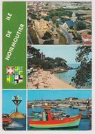 85 - ILE DE NOIRMOUTIER Multivues: L'Anse Rouge, L'Herbaudière, Le Gois, Le Château - Ed. Vieux Chouan N° V.2042 - 1979 - Ile De Noirmoutier