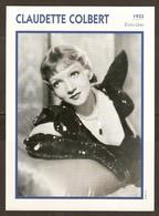 PORTRAIT DE STAR 1933 ETATS UNIS USA - ACTRICE CLAUDETTE COLBERT - ACTRESS CINEMA - Fotos