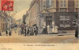 51.n°55946.epernay.rue De L'hopitam Auban-moët.carte Toilée - Epernay