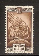"""(Fb).Regno.V.E.III.1935.""""Pro Previdenza"""".50c+50c Bruno Usato (497-16) - 1900-44 Victor Emmanuel III"""