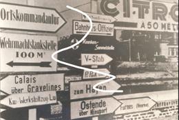 19 West Vlaanderen 1940 Duitse Panelen. Oostende Veurne. Repro - 1939-45