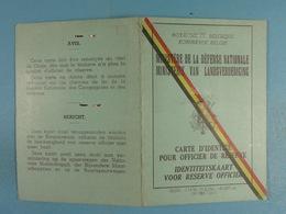 Carte D'identité Pour Officier De Réserve Delmarcelle Yves Né à Namur Le 23 Juin 1928 Capitaine Commandant Médecin - Vieux Papiers