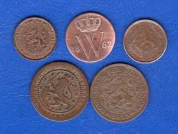 Pays Bas  5  Pieces - [ 3] 1815-…: Königreich Der Niederlande