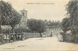 -dpts Div -ref-AJ786- Meuse - Montiers Sur Saulx - Un Pont Sur La Saulx - Carte Bon Etat - - Montiers Sur Saulx
