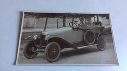 CARTE PHOTO TREINEN LE NEUBOURG AUTOMOBILE TACOT CHIEN ET HOMME - France