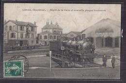 CPA 53 - LAVAL - Dépôt De La Gare Et Nouvelle Plaque Tournante - SUPERBE PLAN TRAIN LOCOMOTIVE CHEMIN DE FER - Laval