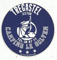 Autocollant , CAMPING LE GOLVEN ,  22 , TREGASTEL - Stickers