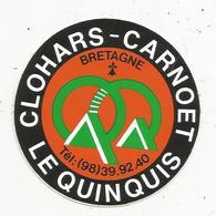 Autocollant , CAMPING , LE QUINQUIS ,CLOHARS-CARNOET ,Finistère, Bretagne - Stickers