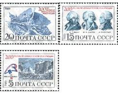 Ref. 358035 * MNH * - SOVIET UNION. 1989. ANIVERSARIO DE LA REVOLUCION FRANCESA - 1923-1991 UdSSR