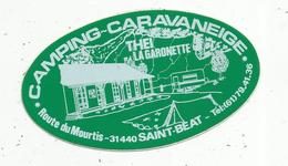 Autocollant , CAMPING - CARAVANEIGE ,THEI ,LA GARONETTE , 31,SAINT BEAT - Stickers