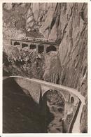 SCHÖLLENENBAHN (Valais-VS) Teufelsbrücke - Train - Rare Photo A. KLOPFENSTEIN , ADELBODEN - VS Valais