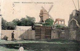 Dept 75,Paris,Cpa Paris,Montmartre,Le Moulin De La Galette - France