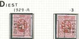 "OCVB N°  5004 DIEST ""29""  A B - Roulettes 1920-29"