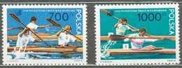 POLAND MNH ** 3085-3086 CHAMPIONNAT DU MONDE DE CANOE KAYAK - 1944-.... République