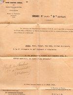 Document-  Citation à L'ordre De La Brigade- - Documents