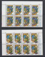 Vatican City 1980 Alberto Magno 2v Bl Of 8 ** Mnh (42717F) - Ongebruikt