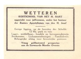 Pub Reclame Org. Knipsel Tijdschrift - Kostschool Van Het H.Hart - Wetteren - 1946 - Unclassified