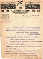 1 Faktuur Wald Rheinland C.Friedr.Ern Rasiermesserfabrik Steichriemerfabrik C1922 Rasoirs Ciseaux Cuirs à Rasoirs - Belgien