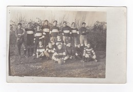 Equipe De Rugby.Carte Photo Non Située.Mazoyer. - Rugby