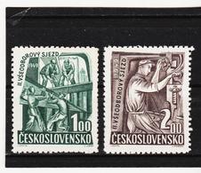 Post285 TSCHECHOSLOWAKEI CSSR 1949 MICHL 597/98 ** Postfrisch SIEHE ABBILDUNG - Tschechoslowakei/CSSR