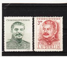 Post287 TSCHECHOSLOWAKEI CSSR 1949 MICHL 603/04 ** Postfrisch SIEHE ABBILDUNG - Tschechoslowakei/CSSR