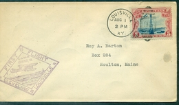 USA 1 Vol CLEVELAND / LOUISVILLE . 1 Aug.1928 Arrivée BOSTON - 1c. 1918-1940 Cartas