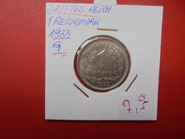 """3eme REICH 1 MARK 1933 """"G"""" - [ 4] 1933-1945 : Troisième Reich"""